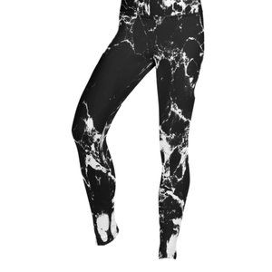 ROOTS Marbled Leggings Black and White Size Small